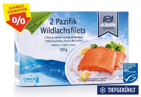 Eine Packung ALMARE SEAFOOD MSC Wildlachsfilets