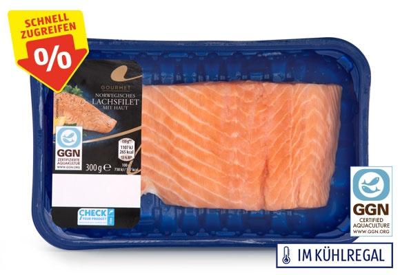 Eine Packung GOURMET Norwegisches Lachsfilet