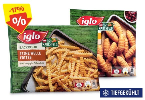 Zwei Packungen IGLO Kartoffelprodukte