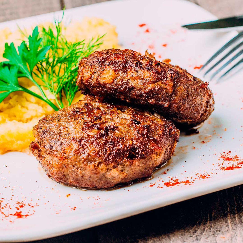 Faschierter Braten mit Kartoffel-Karotten-Püree