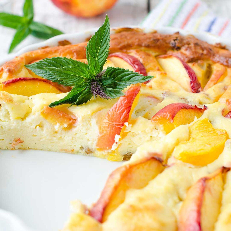 Pfirsich-Topfenkuchen