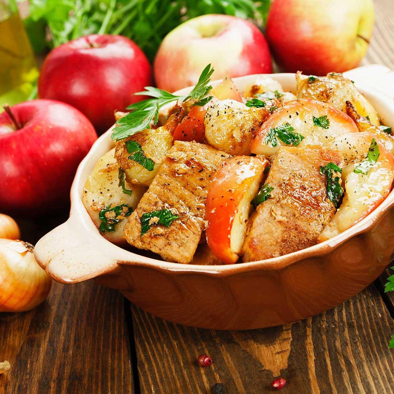 Hühnerfilet mit karamellisierten Äpfeln