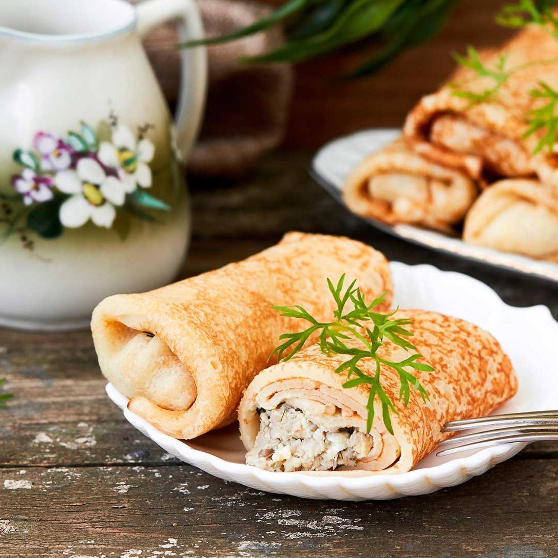 Pikant gefüllte Crêpes