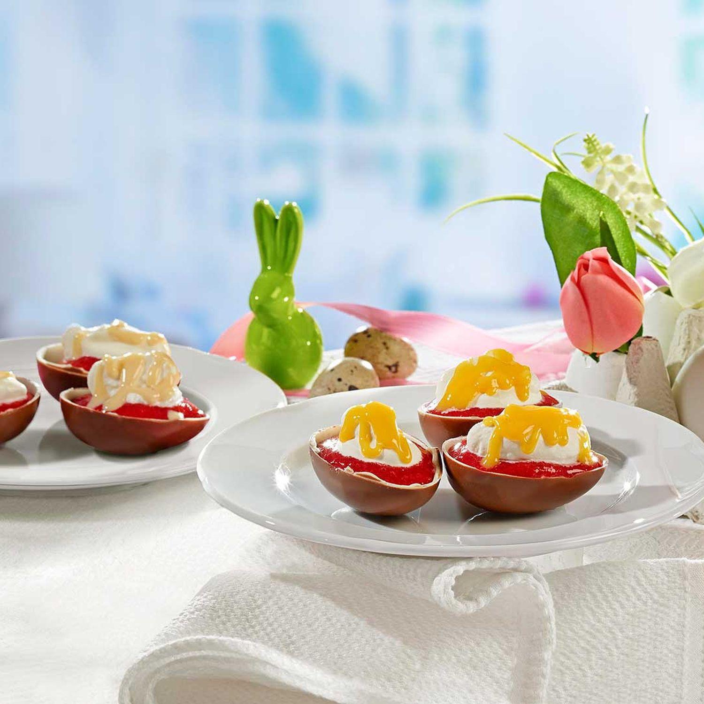 Gefüllte Schoko-Eier