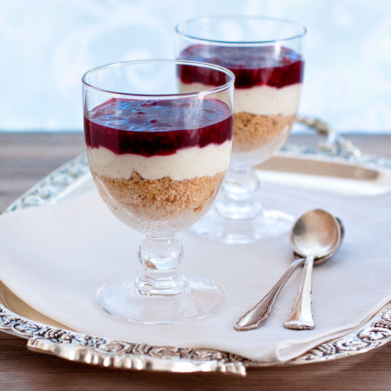 Tiramisu mit Vanille-Rum-Zwetschken