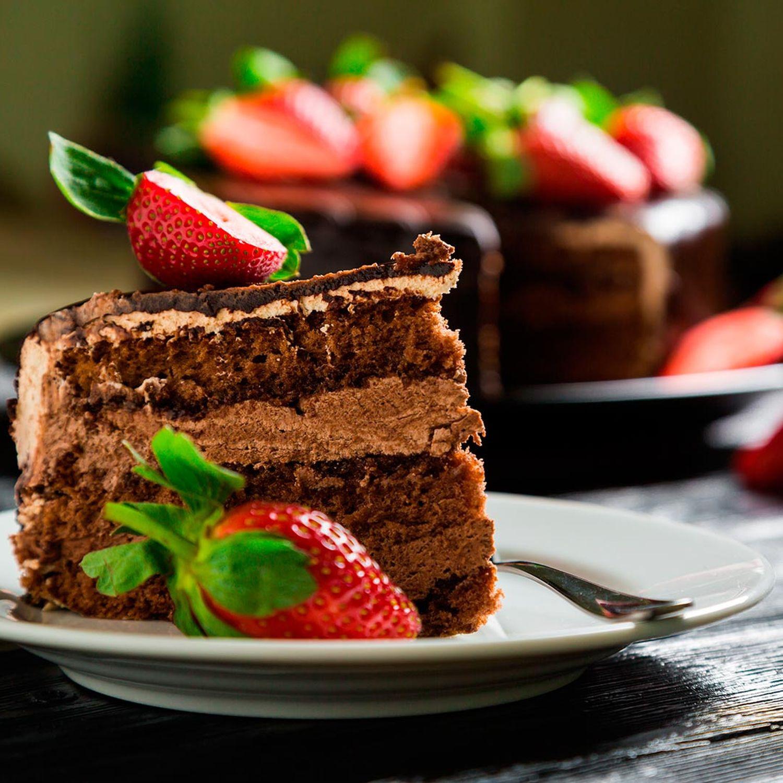 Schokoladen-Erdbeertorte
