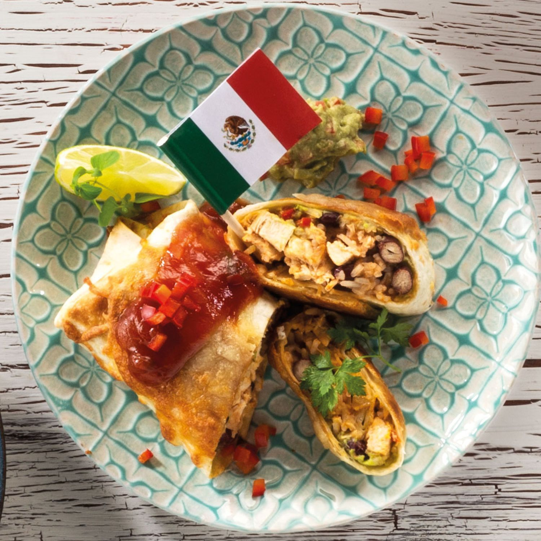 Mexikanische Hühnchen-Chimichangas