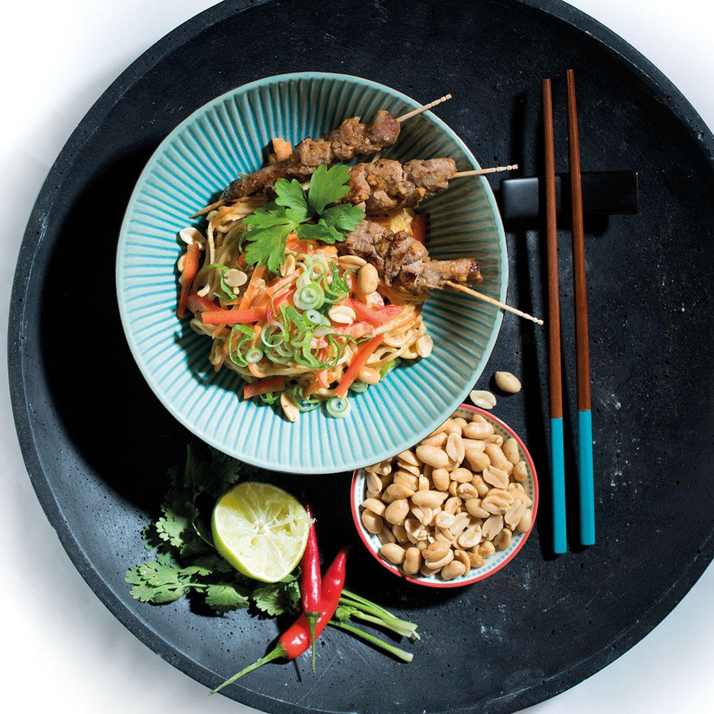 Mie-Nudeln Pork Satay