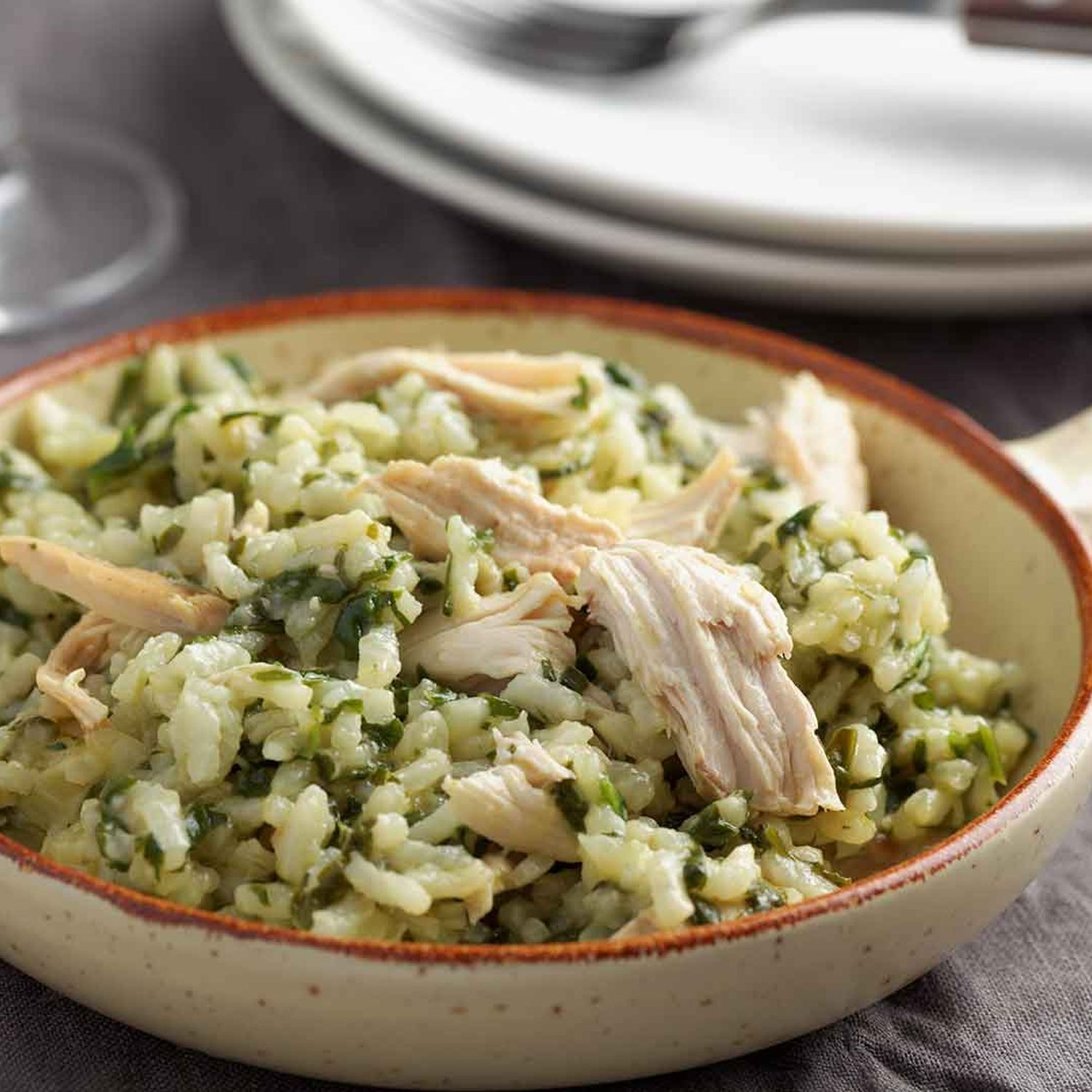 Wildreisrisotto mit Pesto-Huhn