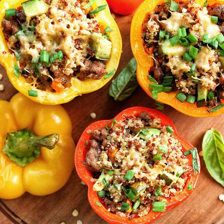 Paprika mit Quinoa-Füllung