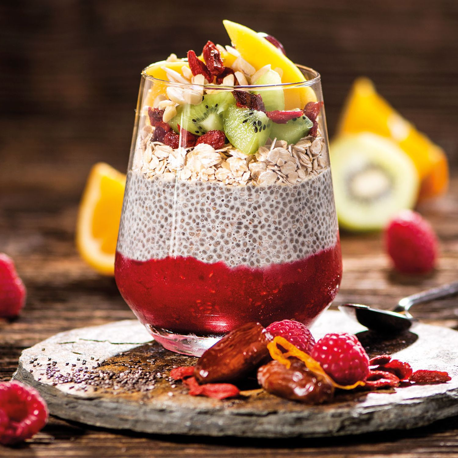 Superfruchtiger Chia-Pudding