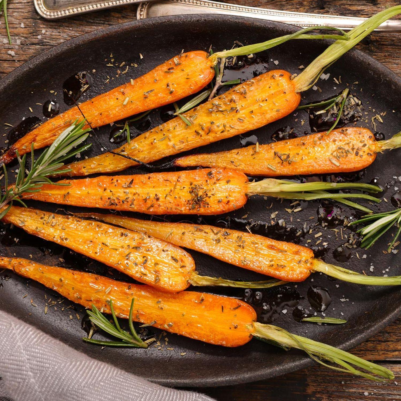 Karotten in der Pfanne
