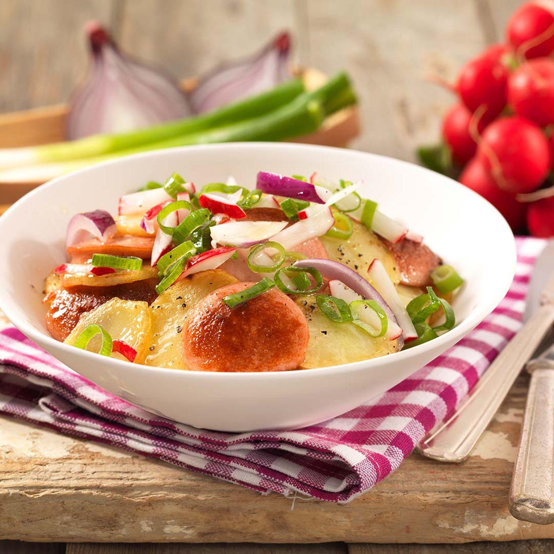 Bratkartoffel-Krakauer-Wurstsalat