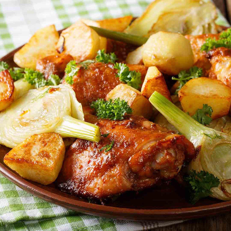 Rosmarin-Grillkartoffeln mit Chicken Wings