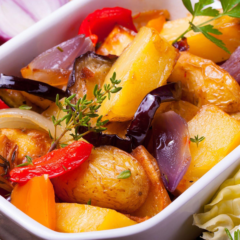Erdäpfel mit Paprika aus dem Ofen