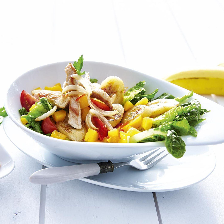 Exotischer Putenstreifen-Salat