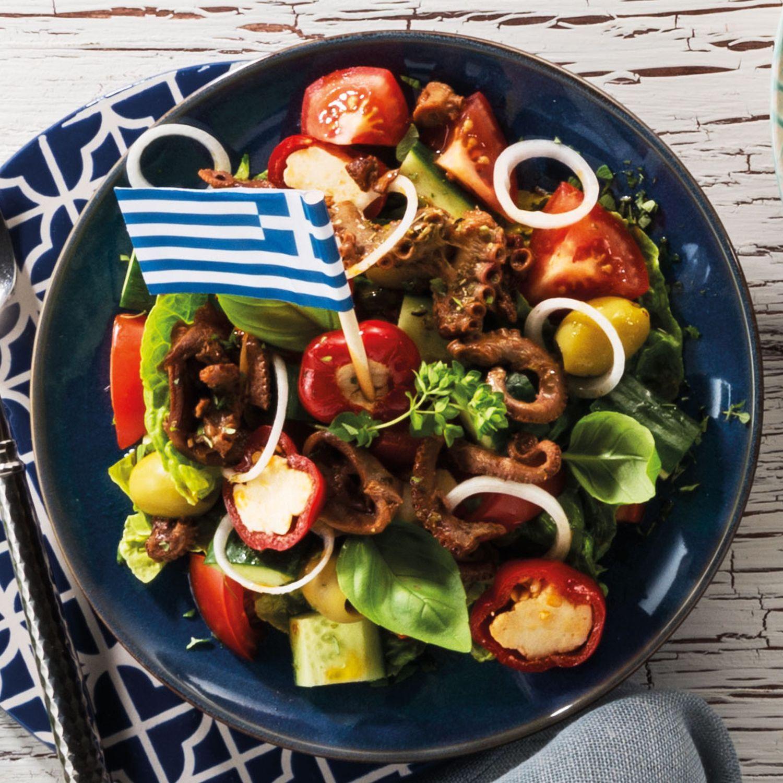 Griechischer Oktopus-Salat