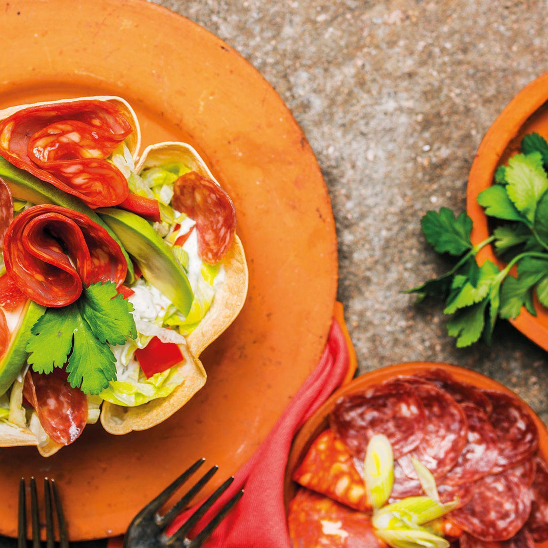 Tex-Mex Wrap-Salat