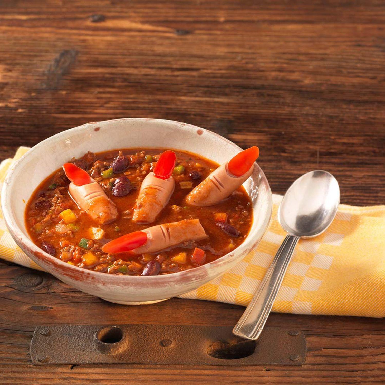 Grusel-Chili con Carne mit Daumeneinlage