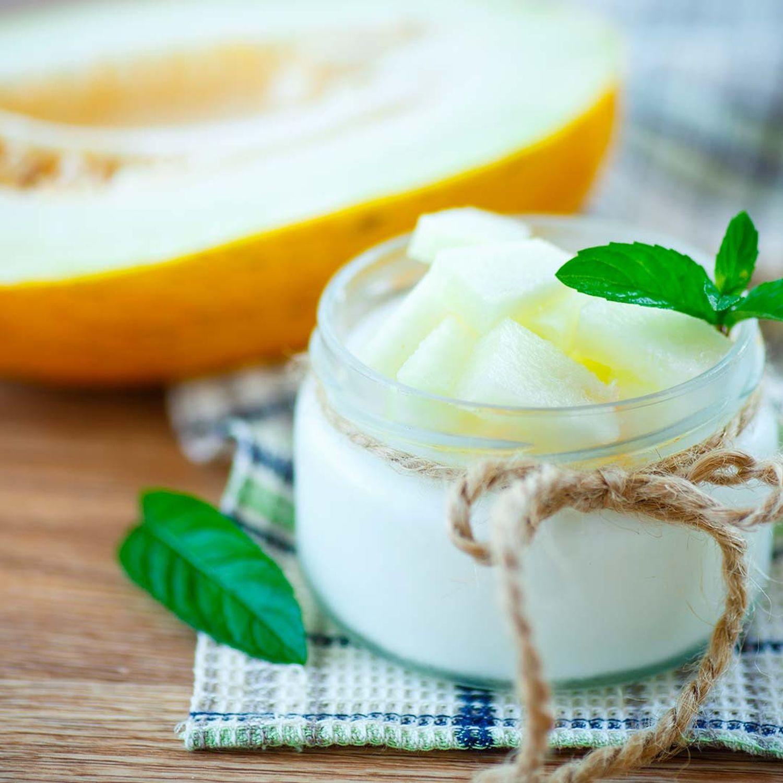 Melonen-Joghurt-Mousse
