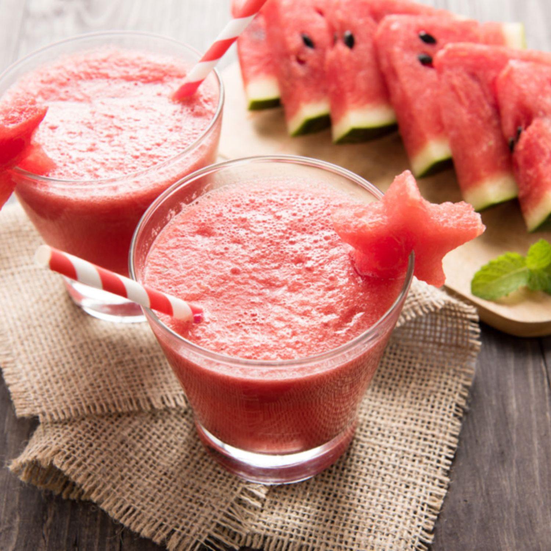 Soja-Fitness-Drink mit Melone