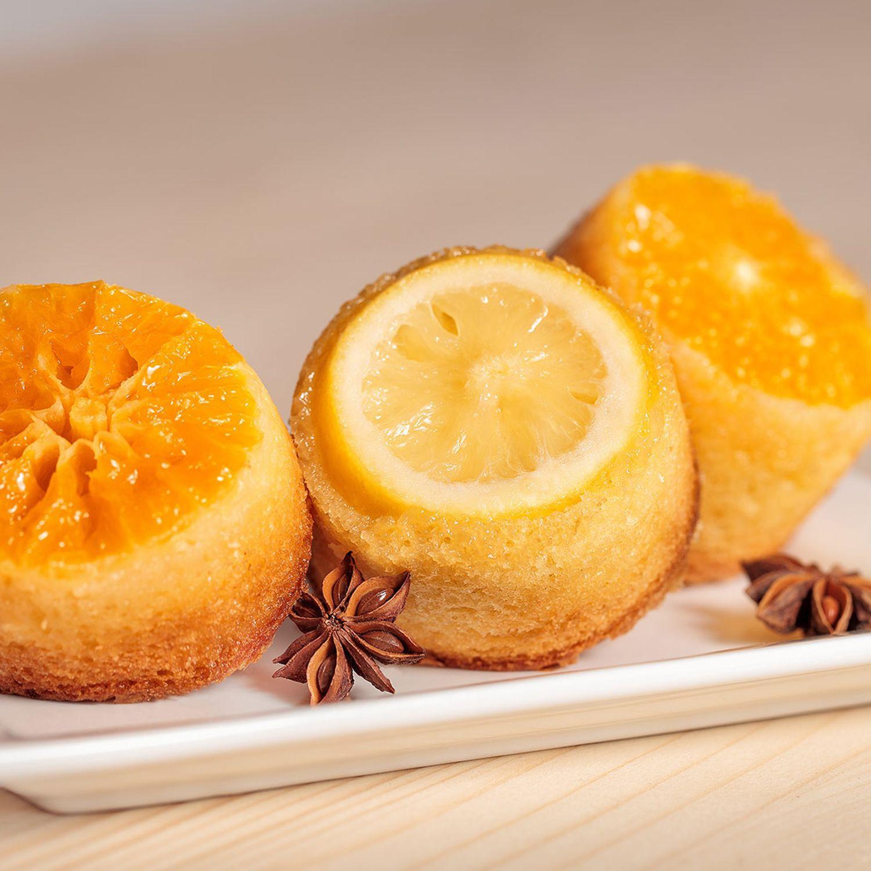 Orangen-Muffins mit Zimt