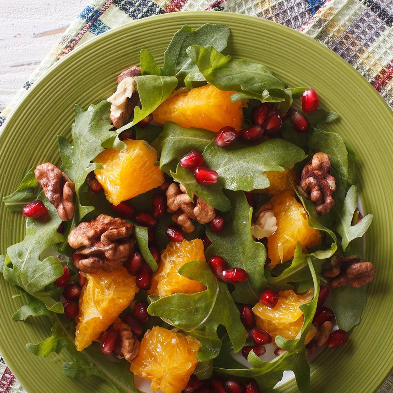 Orangen-Vogerlsalat mit Granatapfel