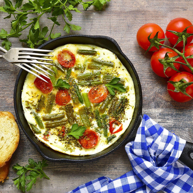 Frittata vom grünem Spargel