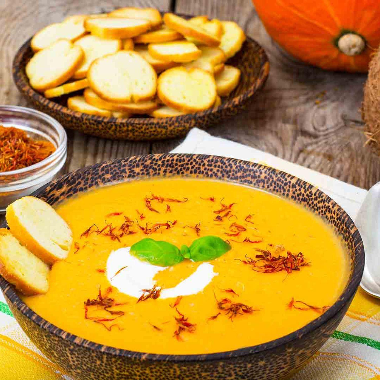 Kürbis-Kokos-Cremesuppe