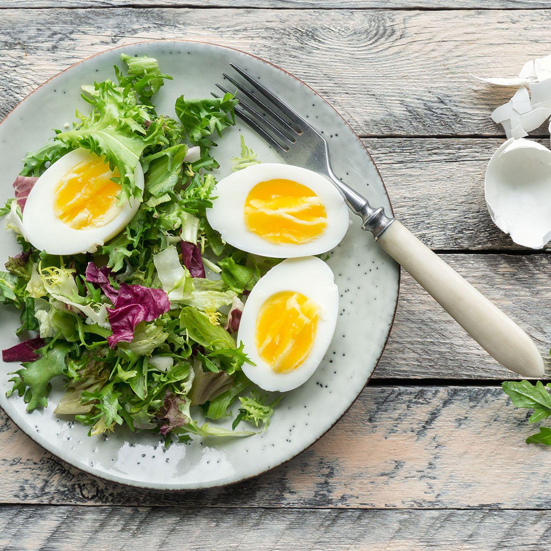 Eiersalat mit Kräuterrahm