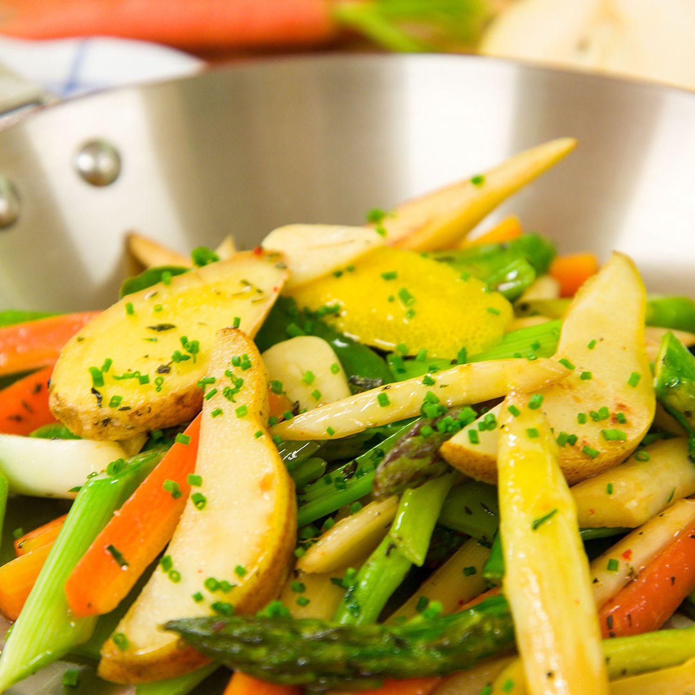 Gebratenes Gemüse mit orientalischer Gewürznote