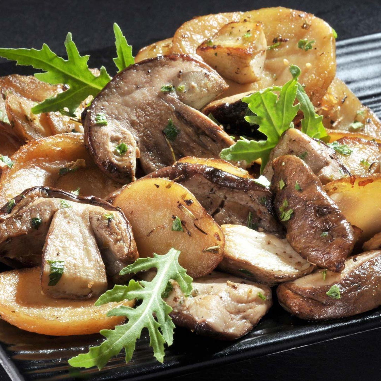 Kartoffel-Pilz-Gröstl