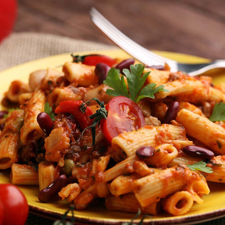 Penne mit Chili con Carne-Ragout