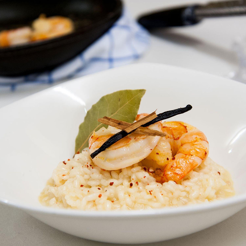 Pina Colada-Reis mit Garnelen