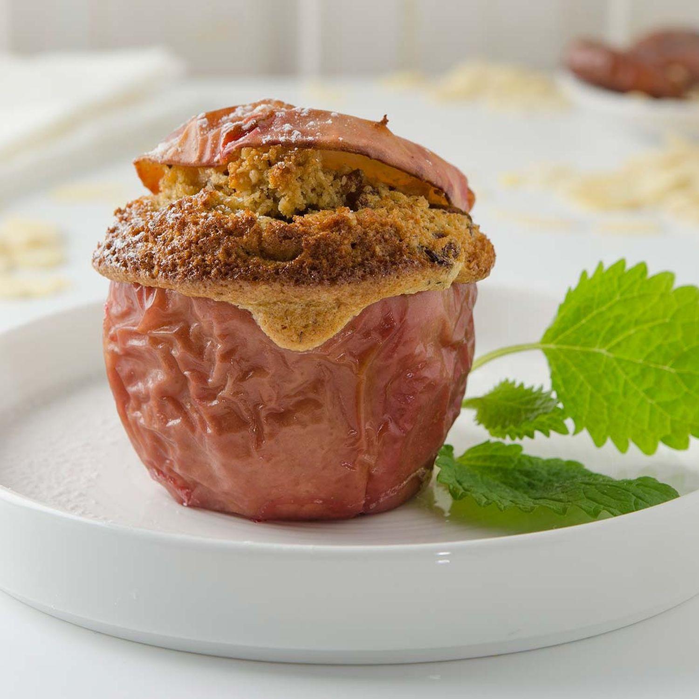 Bratapfel gefüllt mit Datteln und Maroni