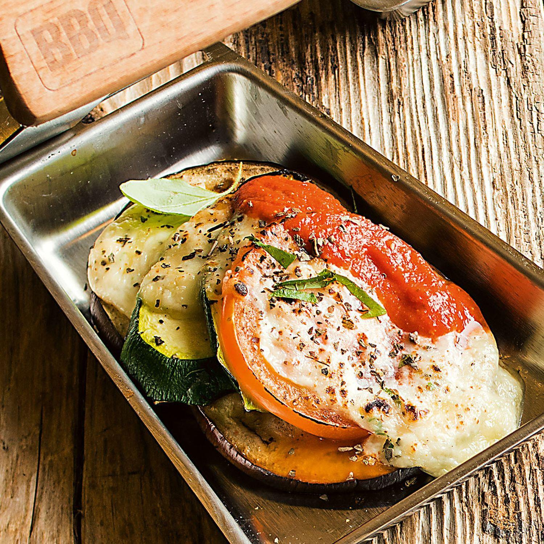 Mini-Gemüselasagne vom Grill
