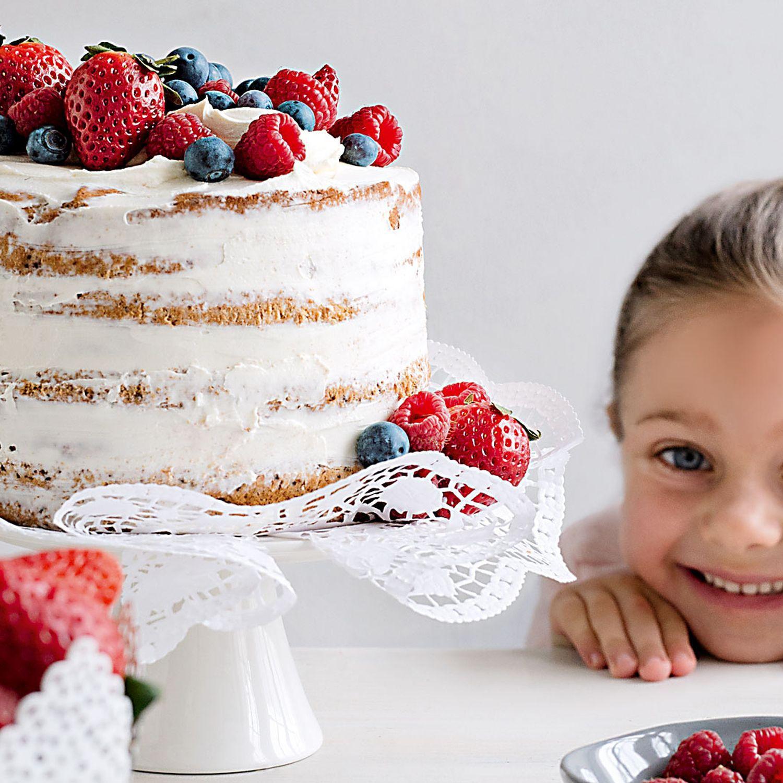 Naked Cake mit Mascarpone-Creme