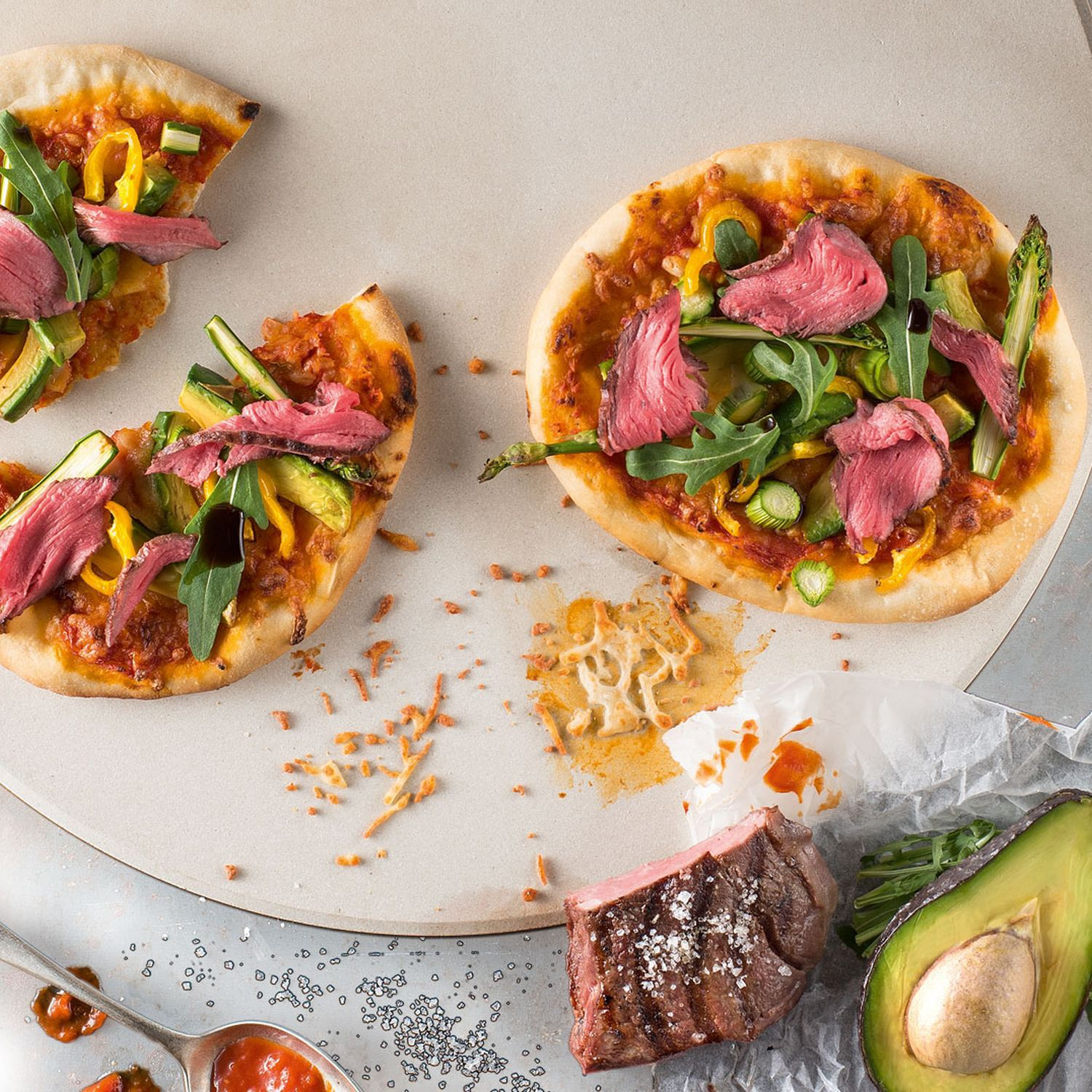 Mini-Steak-Pizza