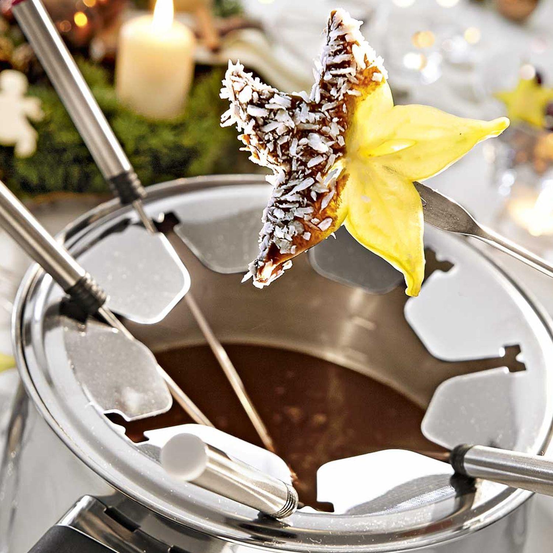 Schokoladenfondue mit Obst