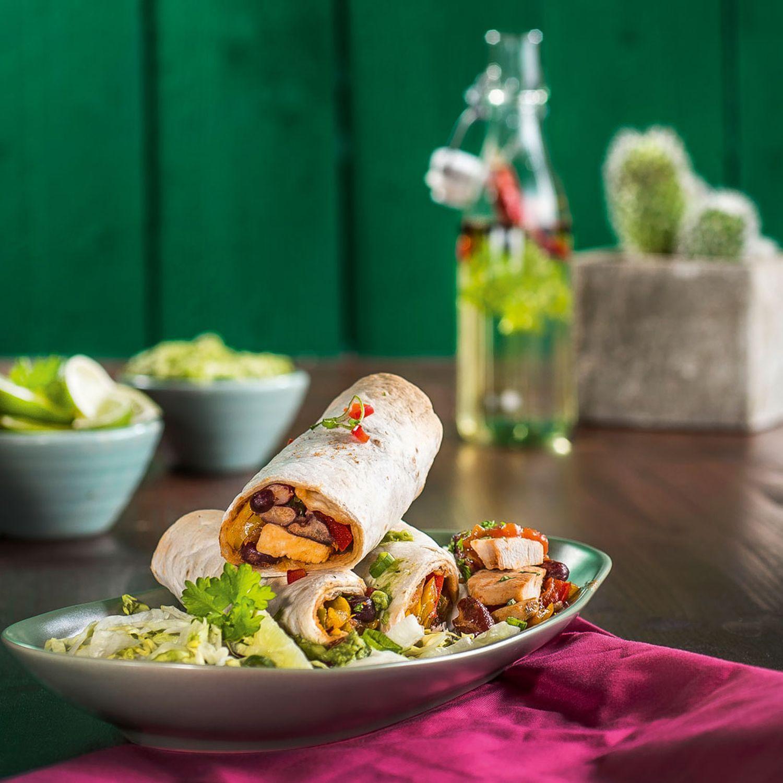 Hähnchen-Burritos