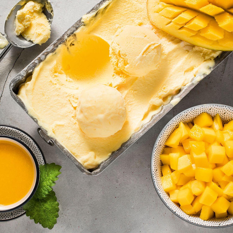 Sauermilch Mango Eis