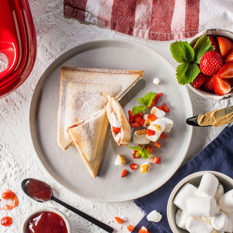 Marshmallow-Erdnuss-Sandwich