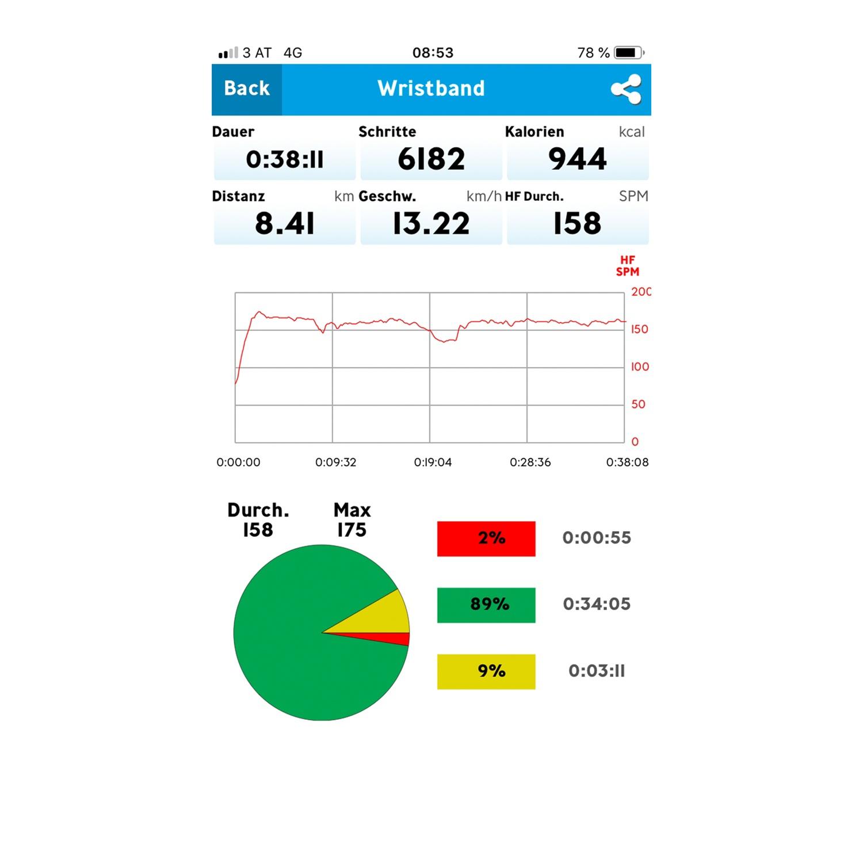 CRANE CONNECT Fitnessarmband mit Pulsmessung, Weiß/Schwarz