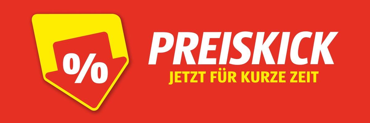 """Roter Hintergrund mit Text """"Preiskick- Jetzt für kurze Zeit"""""""