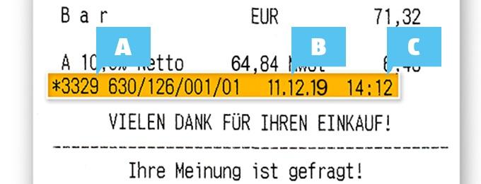 Ein Ausschnitt einer HOFER Rechnung, anhand dessen gezeigt wird, welche Rechnungsdaten hier auf der MMMH-Seite eingefügt werden sollen.