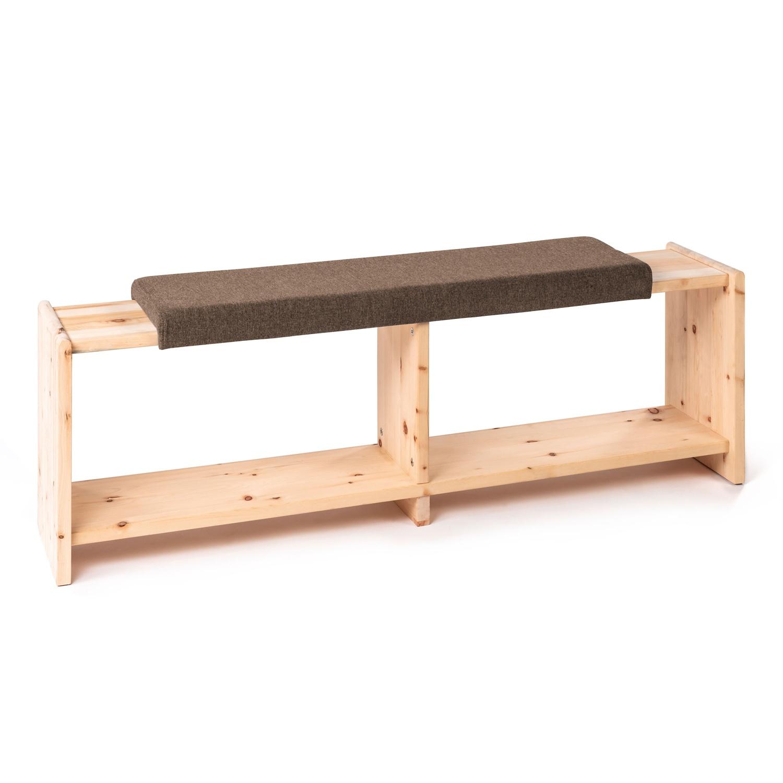 Sitzbank aus Zirbenholz, Braun