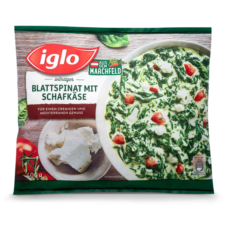 IGLO Blattspinatvariation, Schafskäse