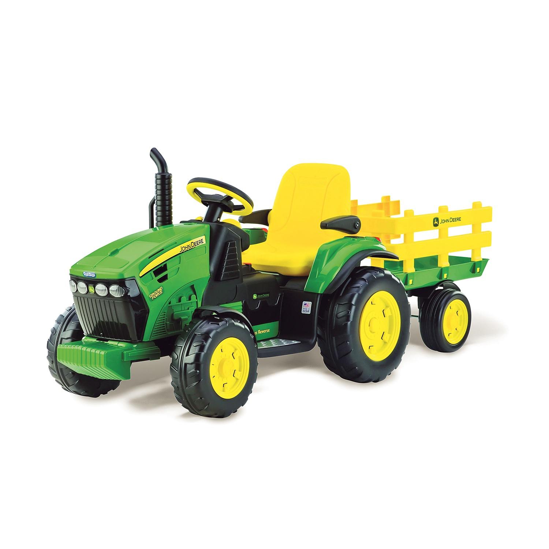 JOHN DEERE Elektro-Traktor mit Anhänger