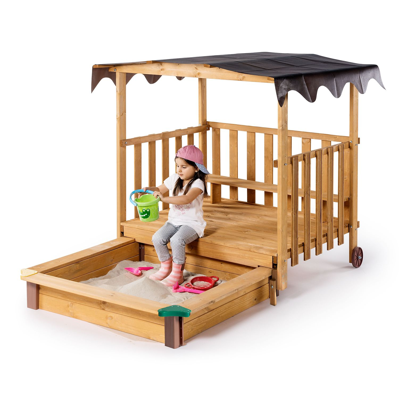 TOYLINO Spielhaus mit Sandkasten