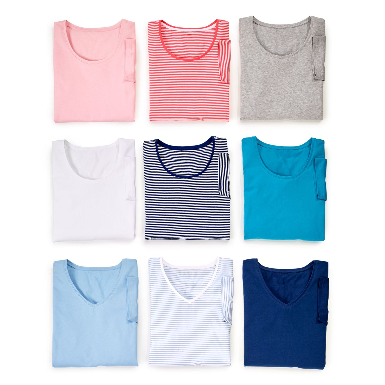 BLUE MOTION Damen-Basic-Shirts, Baumwolle (Bio)